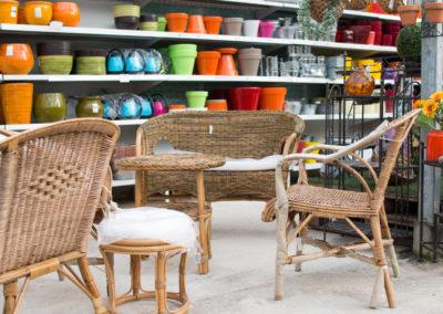 Du mobilier de jardin et de la décoration